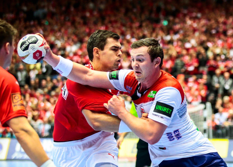 TV3 hadde gode seertall for torsdagens gruppefinale i håndball-VM selv om Sander Sagosen og Norge kom til kort mot Danmark. Foto: Lise Åserud / NTB scanpix