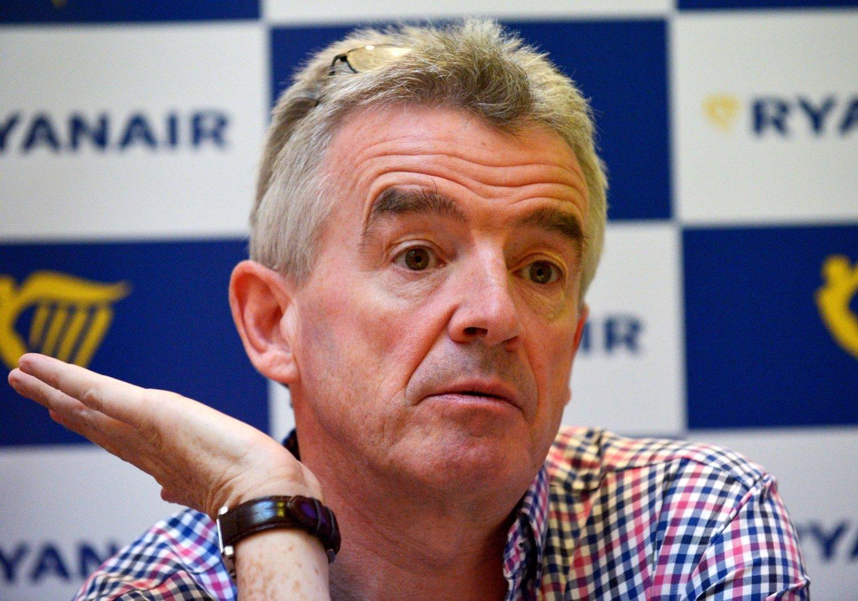 PRISFALL: Michael O'Leary må sende ut resultatvarsel etter skuffende tall for vinteren.
