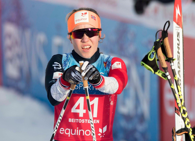 Helene Marie Fossesholm under langrennsåpningen på Beitostølen i november. Foto: Terje Pedersen / NTB scanpix.