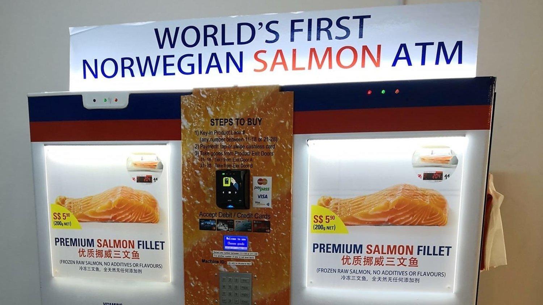 AUTOMAT-LAKS: I Singapore får du nå laksen rett fra automaten.