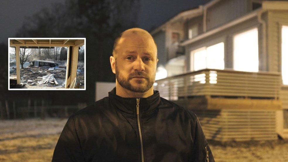 Knut Vedeld og familien har opplevd alle huseieres mareritt. En rettskraftig dom slår fast at han er blitt rundlurt av useriøse entreprenønører - men erstatninsgpengene uteblir.