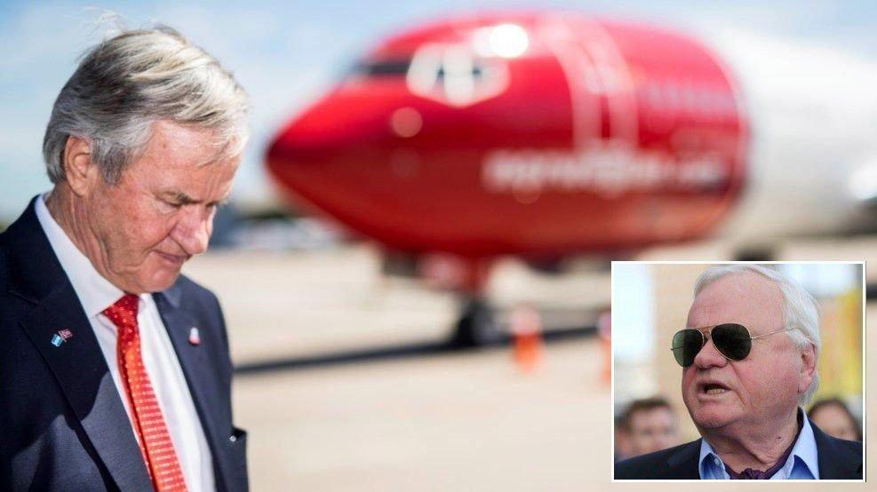 NØDHJELP: Bjørn Kjos får hjelp fra John Fredriksen (innfelt) for å holde Norwegian gående.