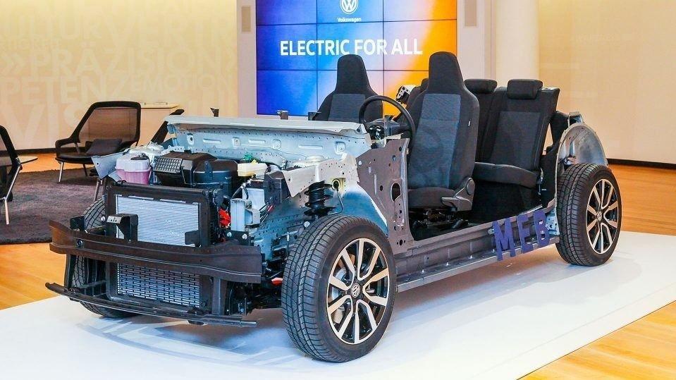 CHASSIS: Dette chassiset skal være grunnlaget for over 50 forskjellige Volkswagen modeller i fremtiden.