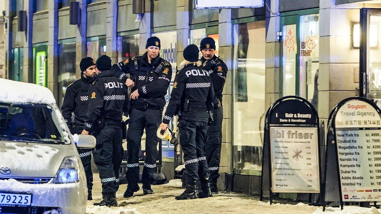 Onsdag la Oslo-politiet fram tall for 2018 som viser at det var 197 gjengangere under 18 år, hvorav 182 i Oslo Bildet er tatt i forbindelse med en knivstikking i Oslo.