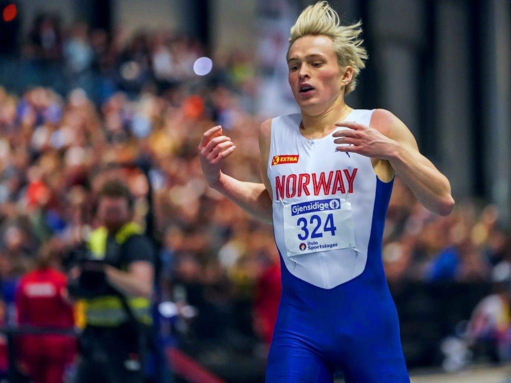 LITT ETTER MÅLET: Karsten Warholm gikk for å sette norsk rekord på 400 meter.