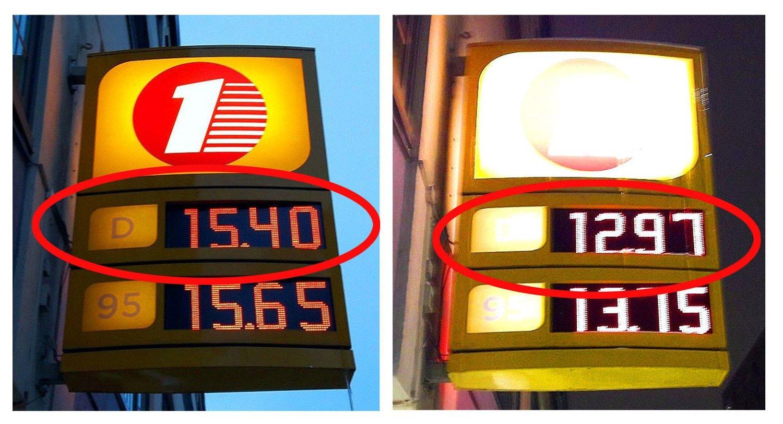 SJEKK FORSKJELLEN: Det er stor prisforskjeller mellom bensin- og dieselprisene på mandager og torsdager.
