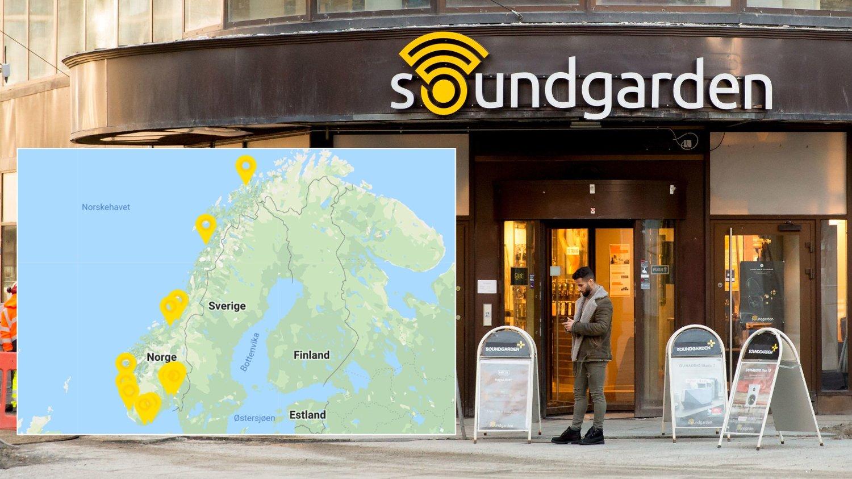 MÅ GI SEG: Soundgarden har har 15 butikker og 107 ansatte, hvorav 35 heltidsansatte. Butikkene ligger i Bergen, Bodø, Drammen, Haugesund, Kristiansand, Levanger, Mandal, Oslo, Sandnes, Sandvika, Ski, Strømmen, Tromsø og Trondheim.