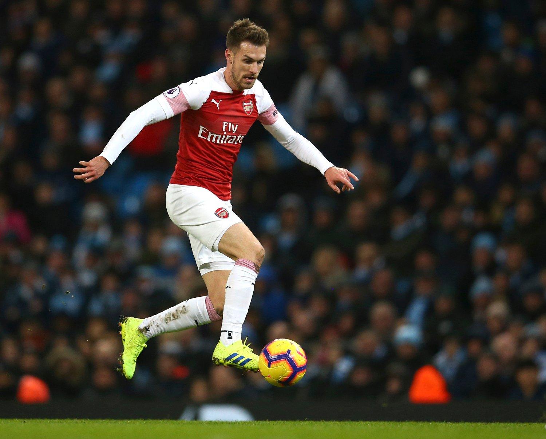 Aaron Ramsey får over 4 millioner kroner i ukelønn når han etter sesongen forlater Arsenal til fordel for Juventus. Foto: Dave Thompson / AP / NTB scanpix