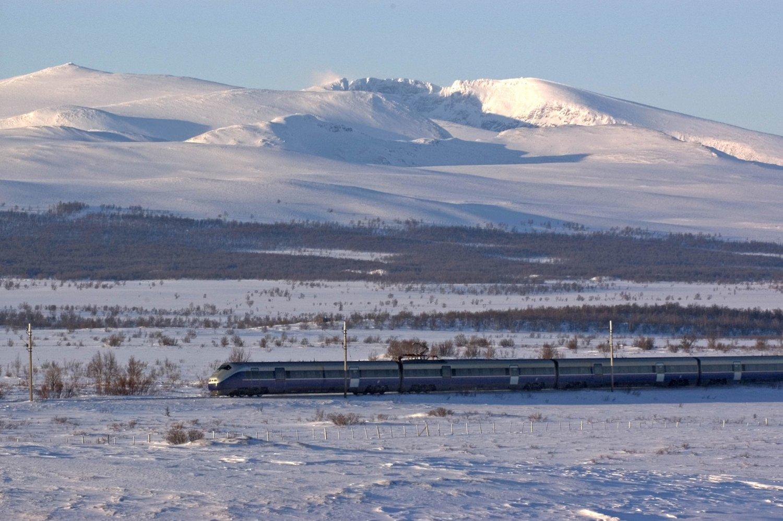 NSBs regiontog mellom Oslo og Trondheim var blant linjene som var berørt av togstansen. Illustrasjonsbilde.