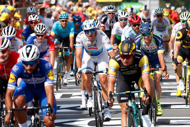 Tour de France-feltet forflytter seg til Danmark for starten på 2021-utgaven av rittet. Foto: Heiko Junge / NTB scanpix