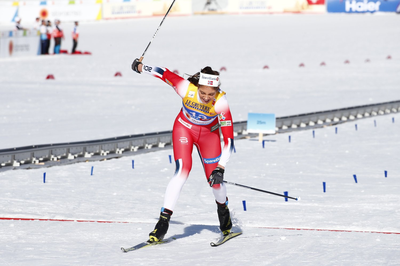 Kristine Stavås Skistad vant sitt kvartfinaleheat på sprinten i VM torsdag. Foto: Terje Pedersen / NTB scanpix