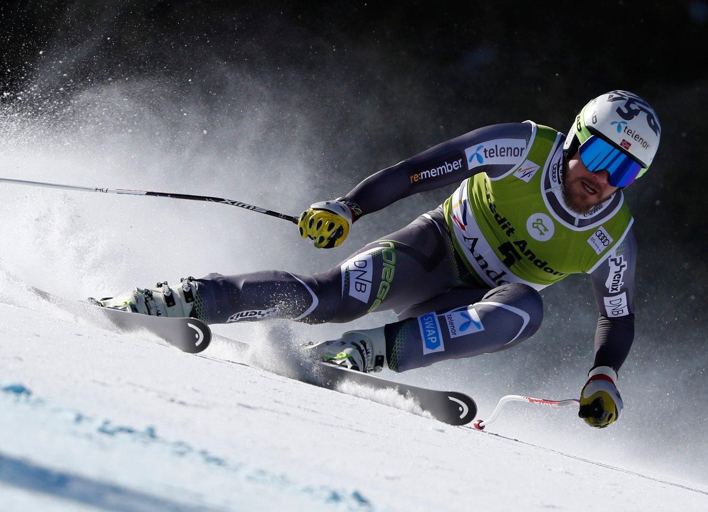 Kjetil Jansrud klarte ikke å ta super-G-seieren torsdag. Foto: Gabriele Facciotti / AP / NTB scanpix