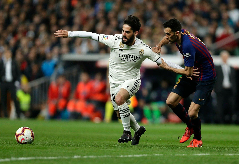 Real Madrid-stjernen Isco er overraskende utelatt fra Spanias landslagstropp til EM-kvalifiseringskampen mot Norge. Foto: Manu Fernandez, AP / NTB scanpix