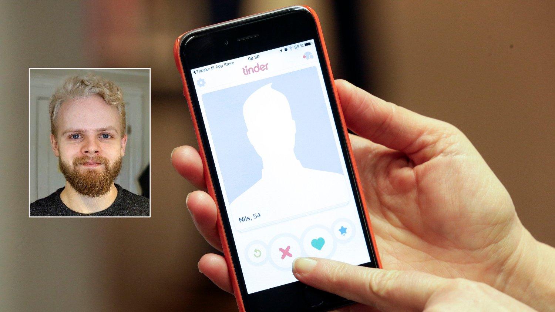 TINDER: Torstein (23) er 1.70 høy og lei av å bli valgt bort på datingmarkedet på grunn av høyden sin.