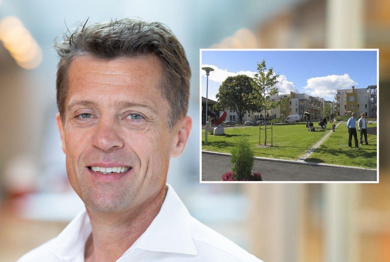 TJENER RÅTT: Finansdirektør Sverre Molvik i Selvaag Bolig medgir at de tjener veldig mye på boligene de selger.