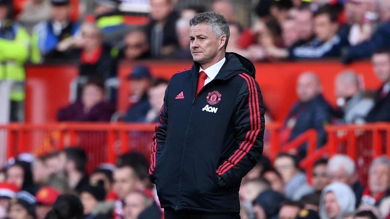 LUGGER: Manchester United-manager Ole Gunnar Solskjær er neppe helt fornøyd med det United-spillerne leverte lørdag.