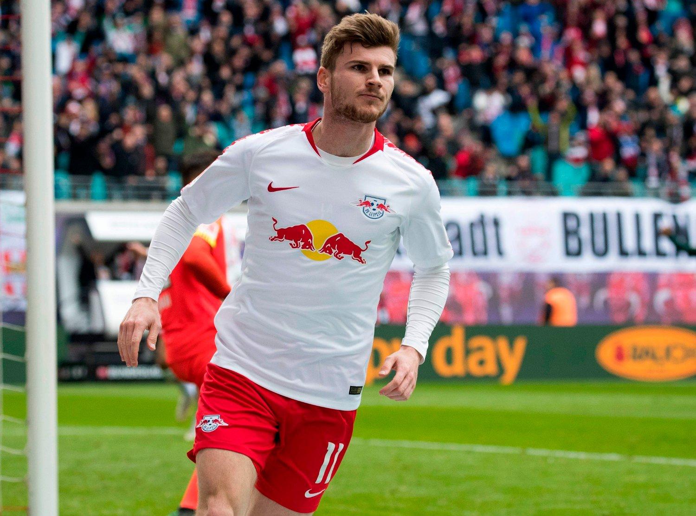 FORSVINNER: Timo Werner forsvinner trolig fra Leipzig i sommer.