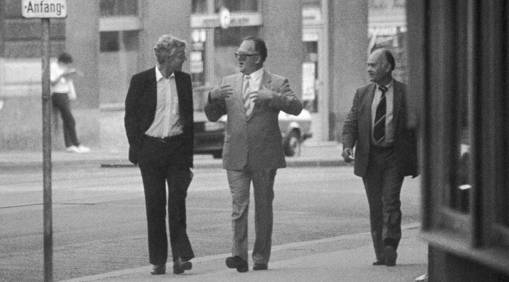 Treholt, Titov og Lopatin i Wien august 1983.