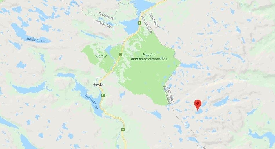 Ulykken skjedde ved Gråsteinvatn, ikke langt fra det populære skiområdet på grensen mellom Telemark og Agder.