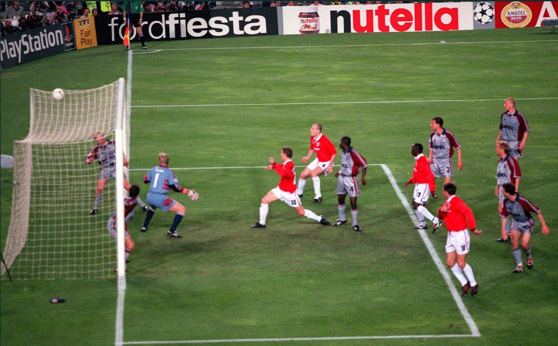 MATCHVINNER: Ole Gunnar Solskjær scoret det avgjørende målet i Champions League-finalen i 1999.
