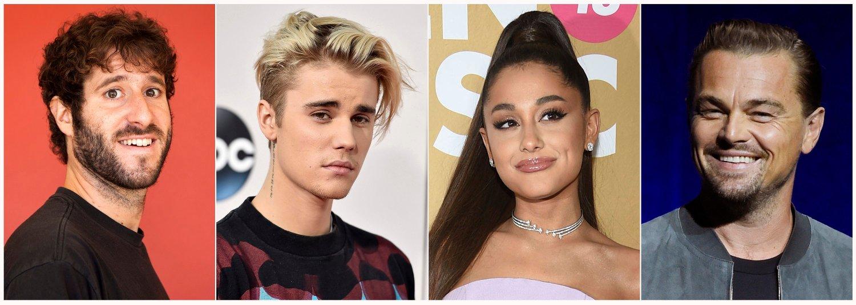 Lil Dicky, Justin Bieber, Ariana Grande og Leonardo DiCaprio er blant stjernene bak klimasangen. Foto: AP / NTB scanpix