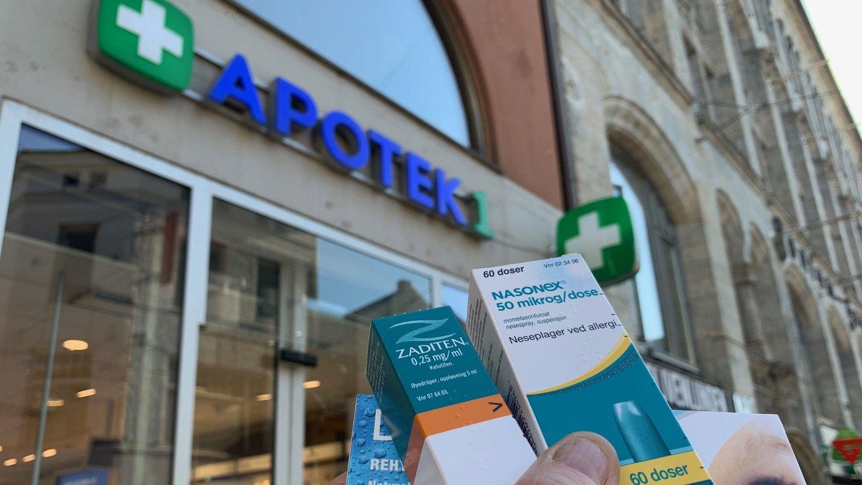 Nettavisens sjefsredaktør Gunnar Stavrum er blant dem som nylig har måttet oppsøke nærmeste apotek for å lindre allergisymptomene. Saltvannsdråper, nesespray og øyedråper kostet ham til sammen 490 kroner.