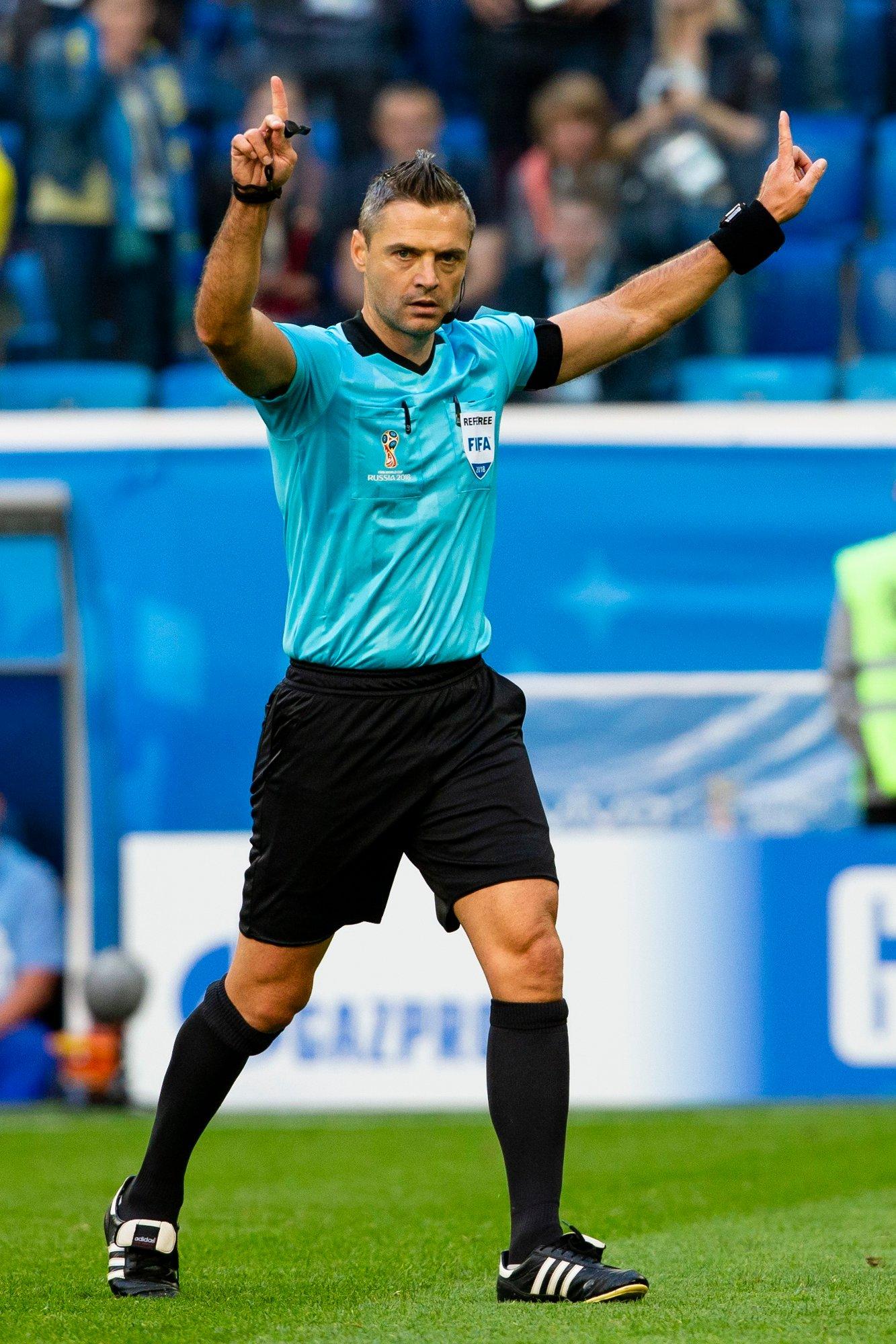 Slovenske Damir Skomina har fått i oppdrag å dømme mesterligafinalen mellom Tottenham og Liverpool i Madrid 1. juni. Foto: Svein Ove Ekornesvåg / NTB scanpix