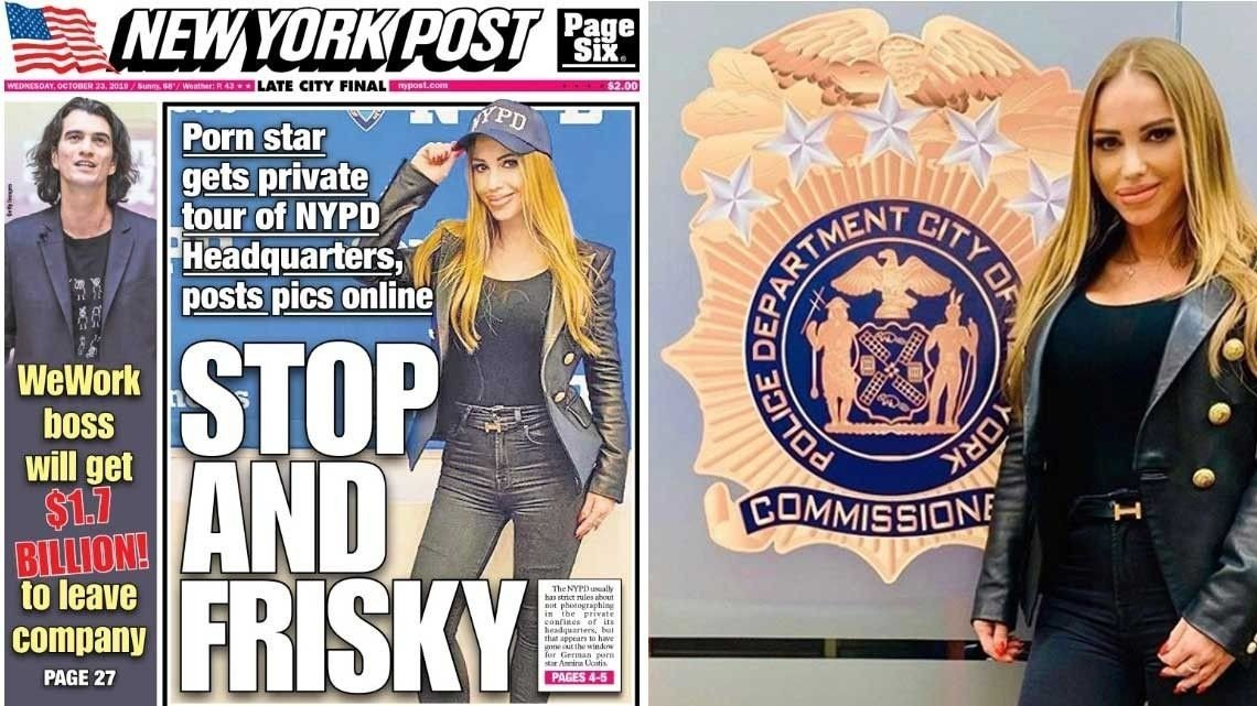 New York, Porno | Pornostjerne kom seg inn i politiets