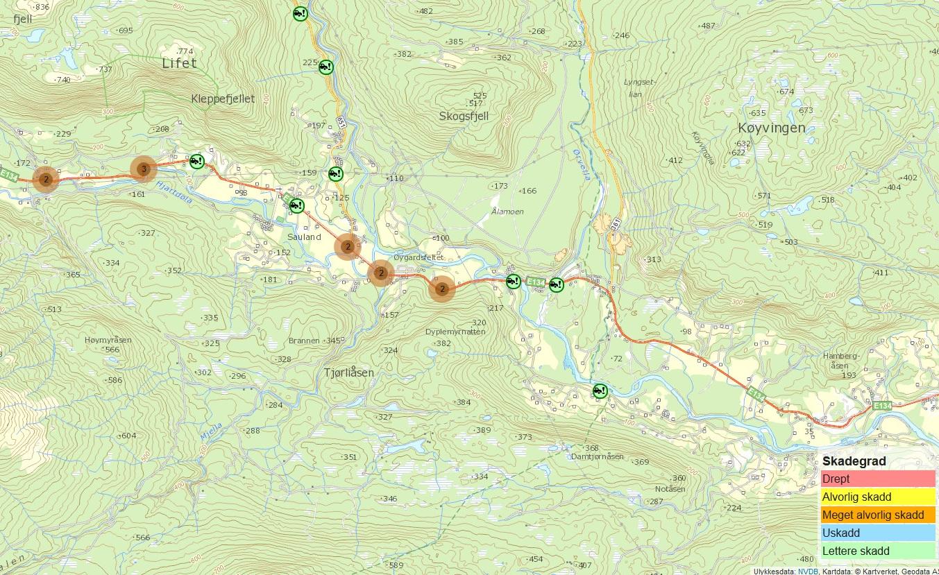 interaktivt kart for ballangen