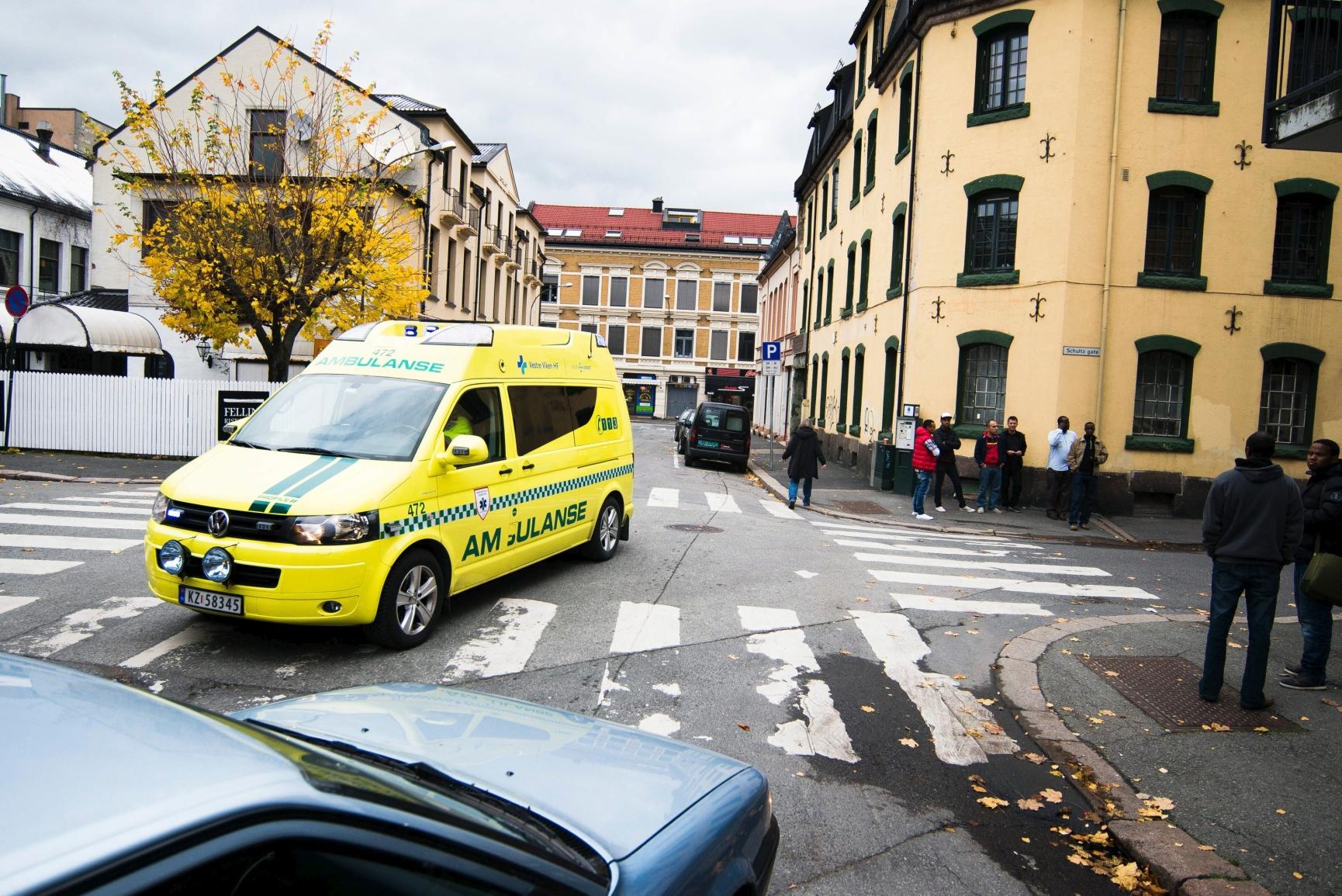 Kjørt til sykehus