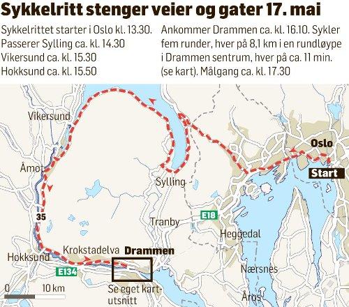 Karta Norge Drammen.Drammens Tidende Slik Stenges Sentrumsgatene